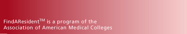 FindAResident is a program of the Association of American Medical Colleges